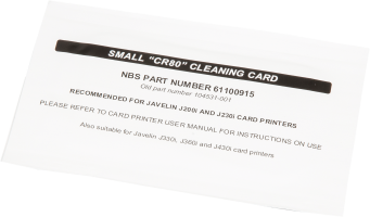 Javelin DNA Head Cleaning Card