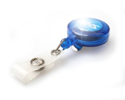 NHS ID Badge Reels Translucent with Reinforced Strap Clip (Pack of 100)