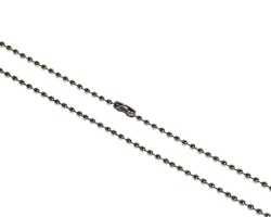 Metal Bead Chain 30 inch Necklace, Nickel Plated (Pack of 100)